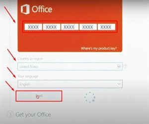Instructions to install Office 2019 Home Student step 2.1