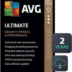 AVG Ultimate 2021 with Antivirus + Cleaner, Secure VPN 10 Devices 2 Years