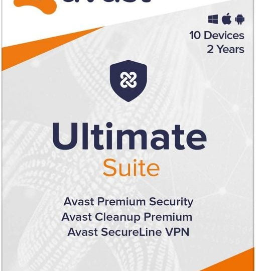 Avast Ultimate Suite 2021 2 Years 10 Devices Global