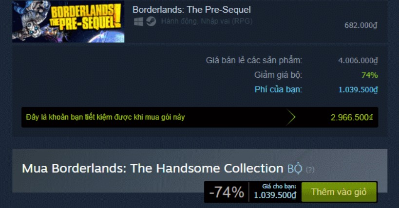 Borderlands: The Handsome Collection Steam Key
