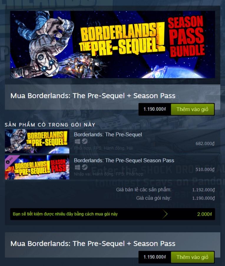 Borderlands: The Pre-Sequel + Season Pass