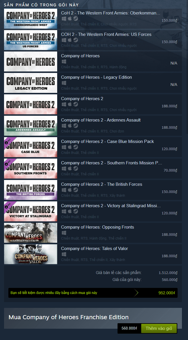 Company of Heroes Franchise Edition Steam Key 1