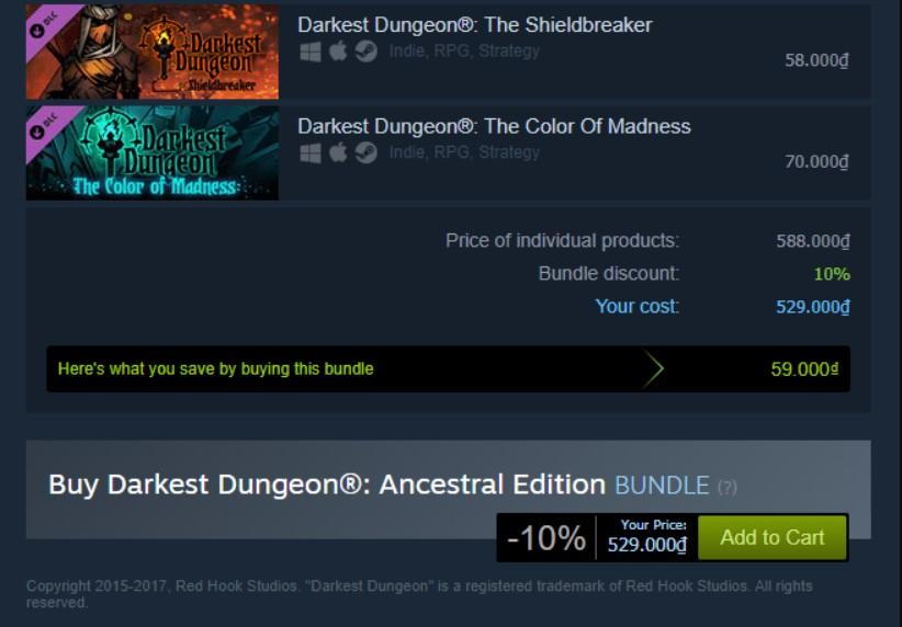 Darkest Dungeon Ancestral Edition Steam Key