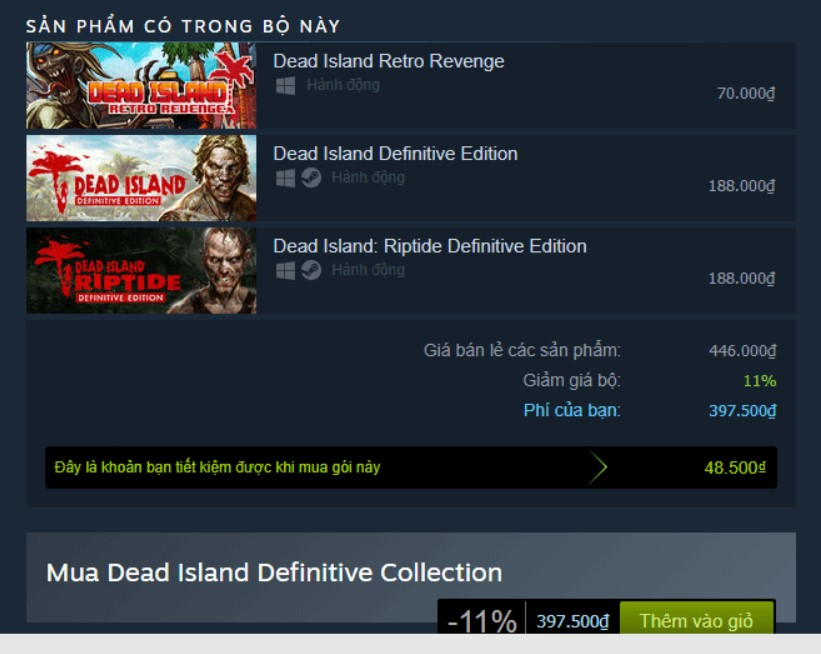 Dead Island Definitive Collection Steam Key