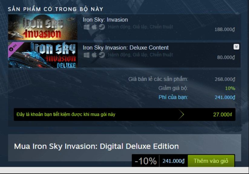 Iron Sky Invasion: Deluxe Content Steam Key