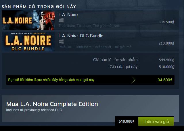 L.A. Noire Complete Edition Steam Key