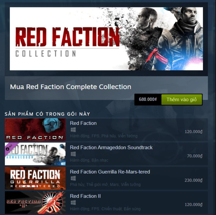 Red Faction Collection Steam Key