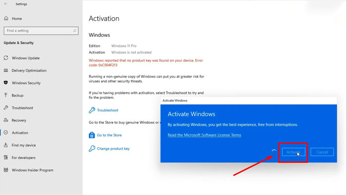 cach active windows 11 buoc 3