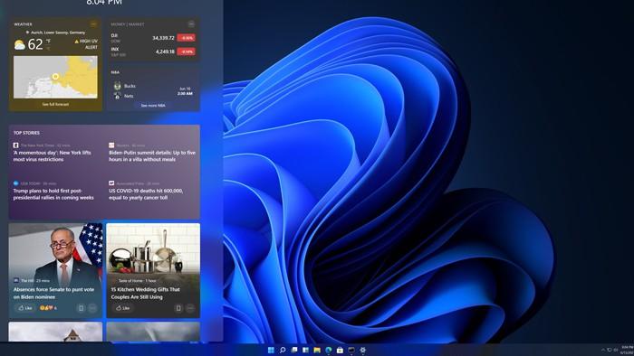 Windows 11 cải tiến bảng tin Widget
